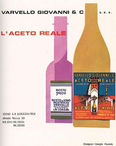L'Aceto di vino rosso Varvello per Sasso