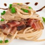 spaghetti integrali con aceto balsamico di modena