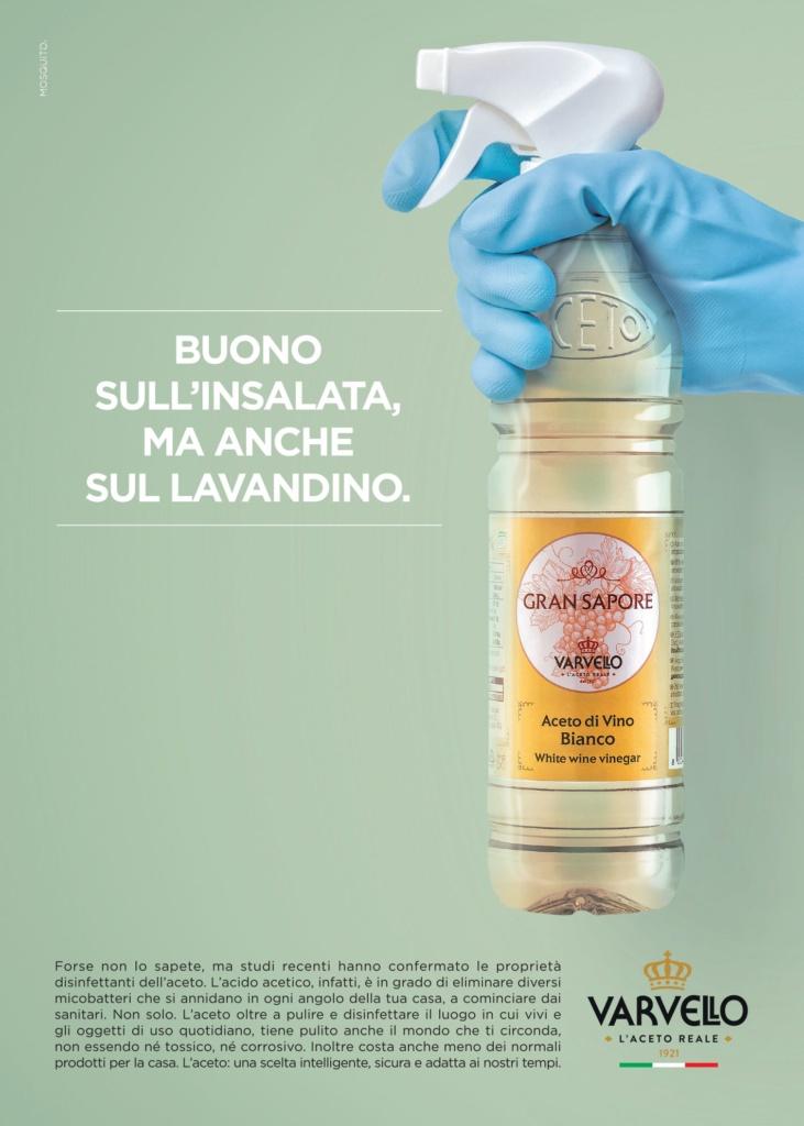 Aceto Varvello per disinfettare
