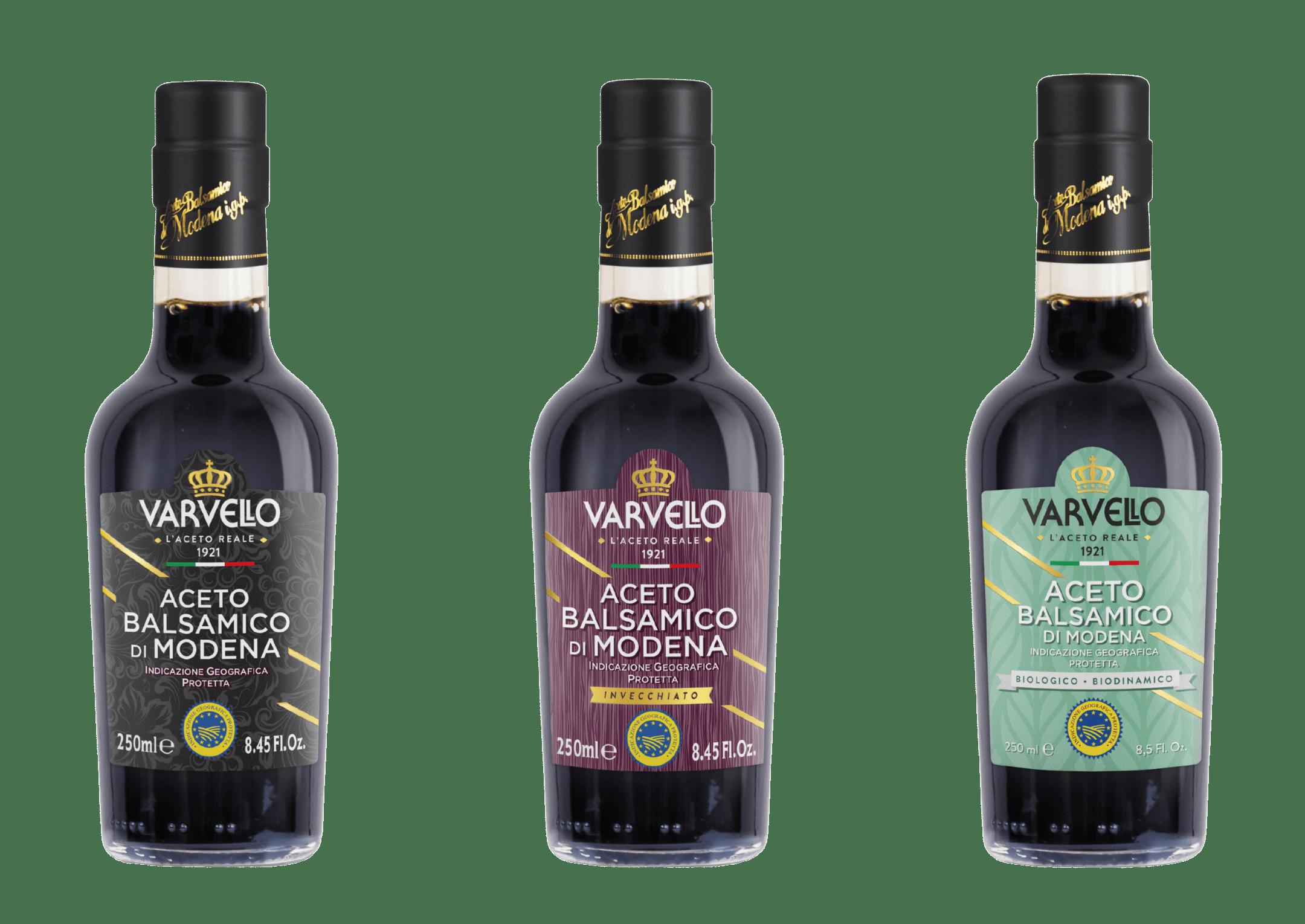 balsamic vinegar of Modena PGI Varvello Alta Gamma line