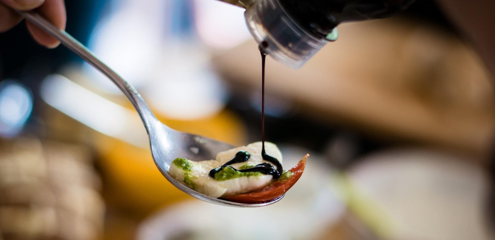 balsamic vinegar of Modena PGI in the kitchen