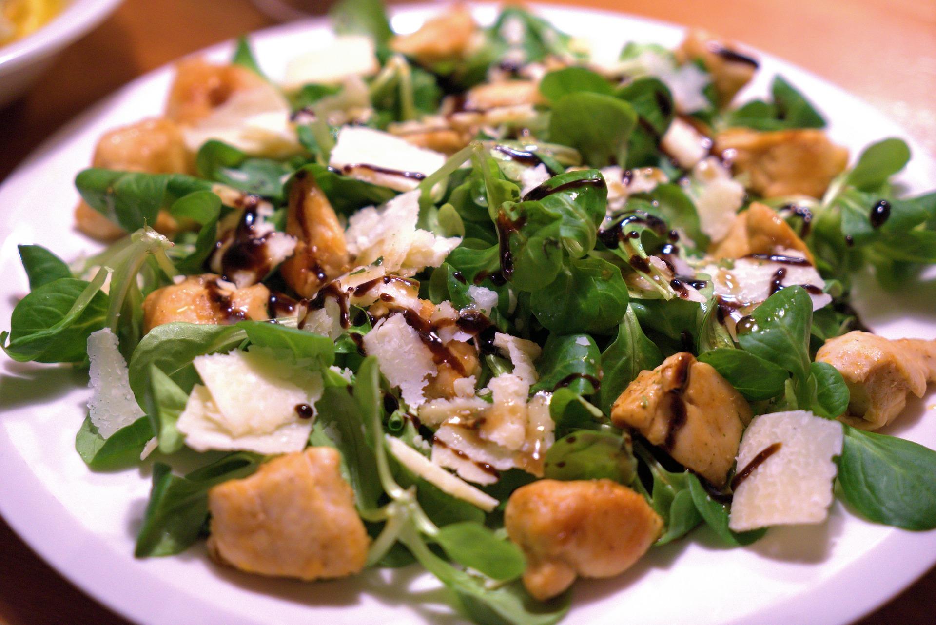 salad with balsamic vinegar of Modena PGI