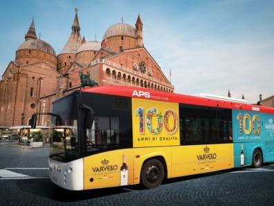 cento anni Varvello banner bus Padova